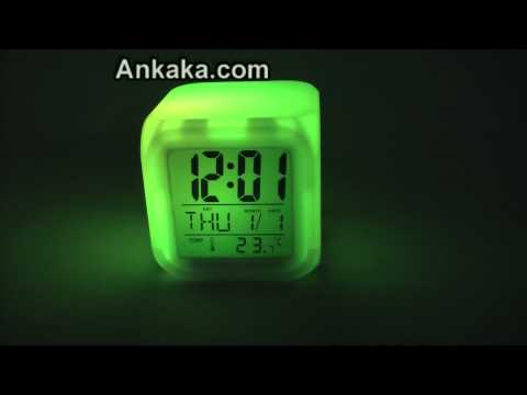 7 LED Color Changing Glowing Alarm Thermometer Digital Clock | Alarm Clock Review