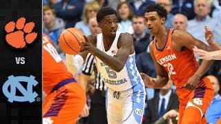 Clemson vs. North Carolina Basketball Highlights (2017-18)