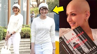 Sonali Bendre Looks Different As She Smiles With Happyness Outside Hospital For Her Treatment