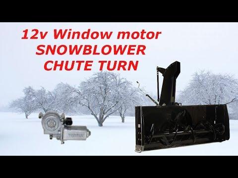 12v Window Motor SNOWBLOWER Chute Turn