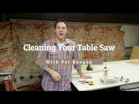 Cleaning Your Table Saw
