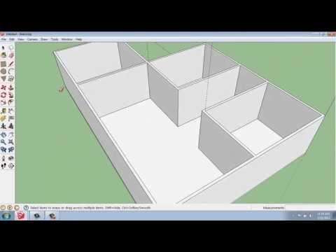 SketchUp #21 - Small House - Floors and Walls - Brooke Godfrey
