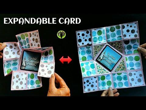 Collapsible & Expandable card   Scrapbook - DIY Tutorial - 899