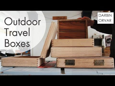 Making Outdoor Travel Bags/Boxes w/ White Oak