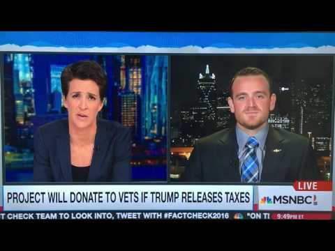 US Marine sniper Peter Kiernan's reasons for Donald Trump to release his taxes