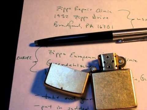 How to send your Zippo in for Repairs