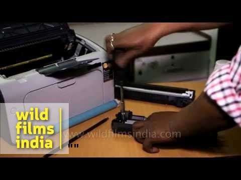 How to refill ink in a HP laser printer
