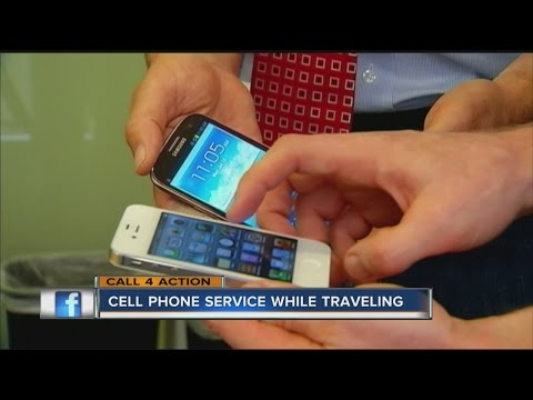 Using cell phone service when traveling abroad