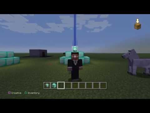 How to make a beacon light tutorial (Minecraft Ps4)