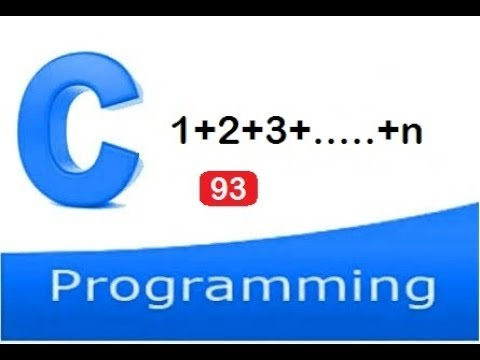 C program to find the sum of first N natural numbers