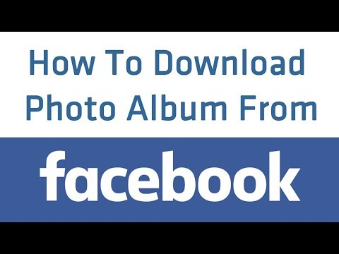 How To Download Album Photos On Facebook