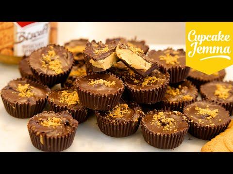 Biscoff Biscuit Butter Cups Recipe | Cupcake Jemma