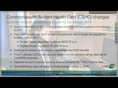 12 The Deeming of Income streams and the Commonwealth Seniors Health Card