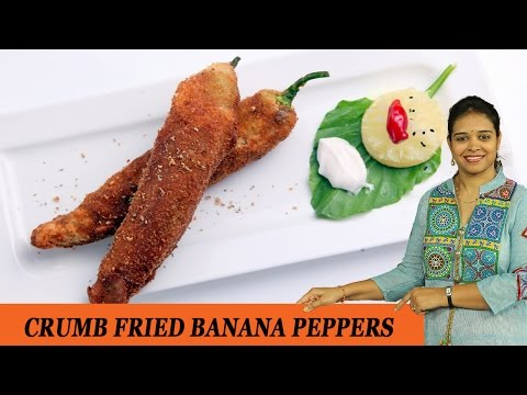 CRUMB FRIED BANANA PEPPERS - Mrs Vahchef