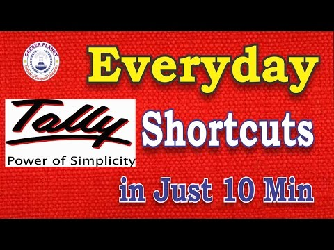 Tally Erp 9 Every Day Shortcut Keys in Just 10 Min. Part-1 |Hindi|Most Useful Tally Shortcut Keys