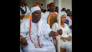 Download Ooni of Ife &his Beautiful wife,Olori Prophetess Naomi,Host Aje Festival,See Ooni's Sister Outfit Video