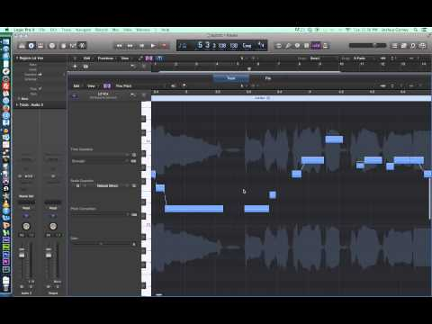 Logic Pro X - Video Tutorial 23 - Flex Pitch and Vocal Tuning