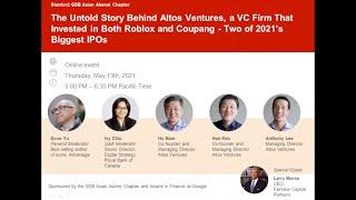 GSB Asian Alumni Chapter: Leadership Webinar Series #4: The Untold Story Behind Altos Ventures