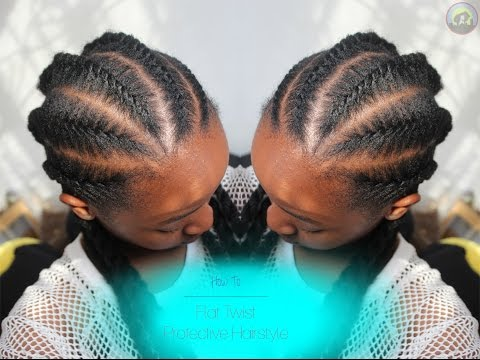 How To | Flat Twist Protective Hairstyle on Natural Hair