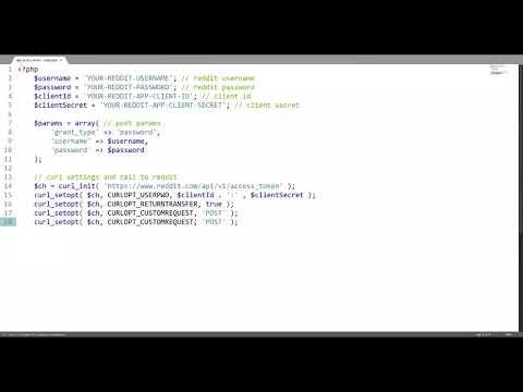 #codingspeedrun Obtaining A Reddit API Access Token w/PHP