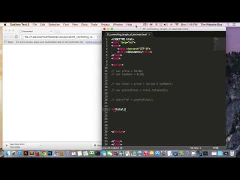 Javascript Tutorial For Beginners #25  Controlling Decimal Places With Numbers