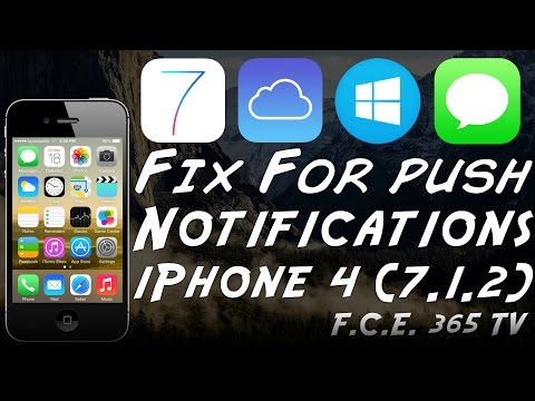 How To Fix Push Notifications / iMessage on Bypassed iPhone 4