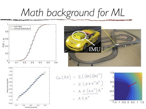 10-606 and 10-607 Math Background for ML