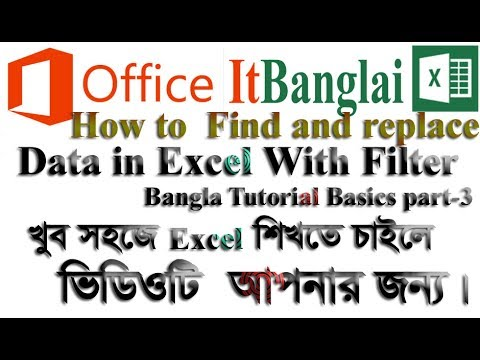 How to Find and replace data in Excel With Filter Bangla Tutorial Basics part-3