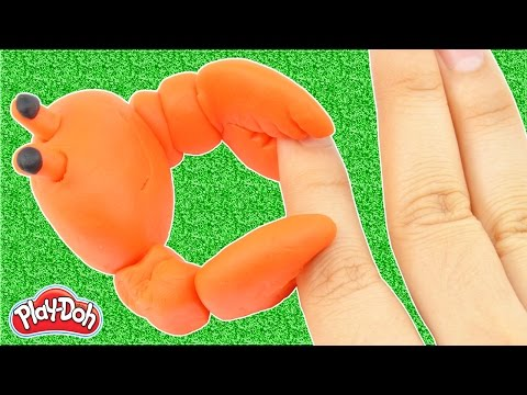 Stop Motion Play Doh DIY How To Crab With Play Dough Creative Fun For Kids