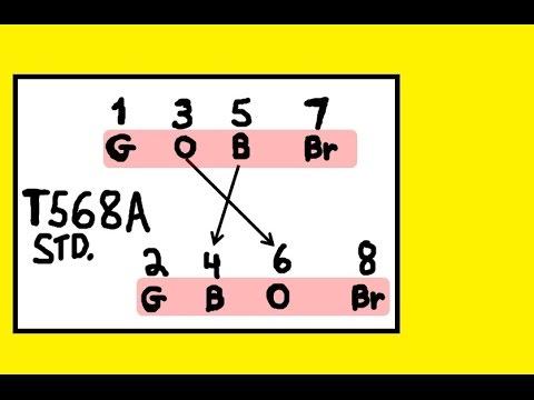 Network Plus: T568A Standard - memorize fast