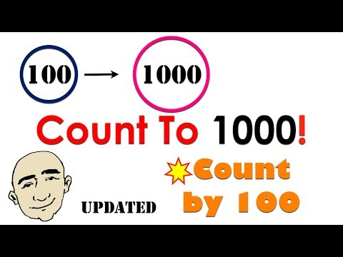 Numbers | Count to 1,000 by 100 | English Speaking Practice | ESL | EFL | ELL