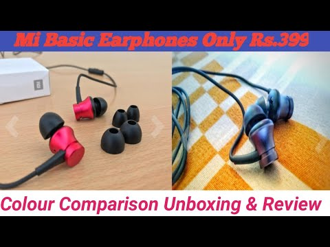 Mi Basic Earphone Colour Comparison Unboxing & Review | In Hindi | Tech 4 You |