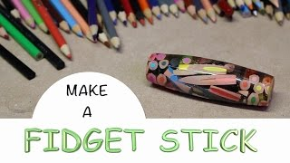 Download MAKE A FIDGET STICK **COLORED PENCILS INSIDE** Video