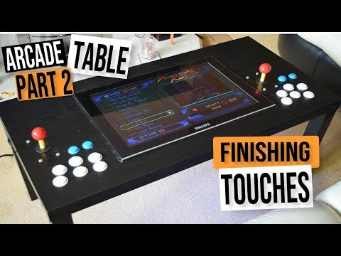 D.I.Y. MAME ARCADE COFFEE TABLE CHALLENGE PART #2 -  ARCADE MACHINE BUILD GUIDE