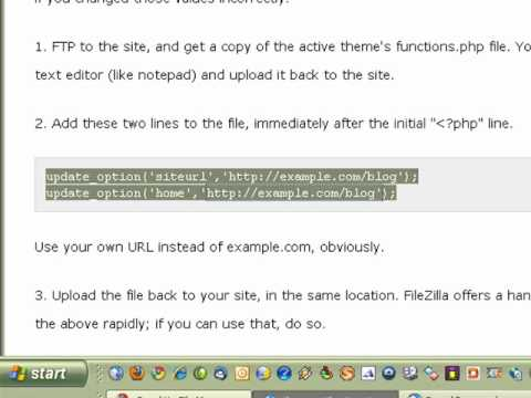How To Reset Urls In Wordpress Using Functions.php File