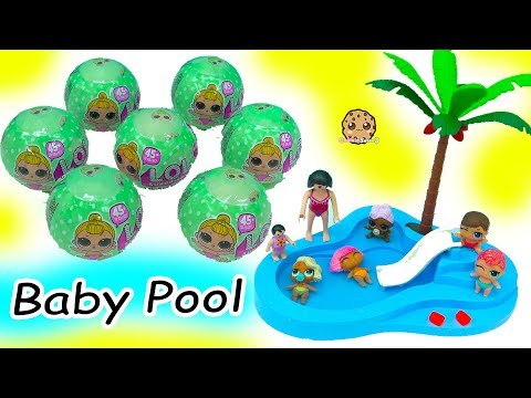 LOL Surprise Lil Sisters Babies Blind Bag  Color Change + Swim in Baby Water Pool