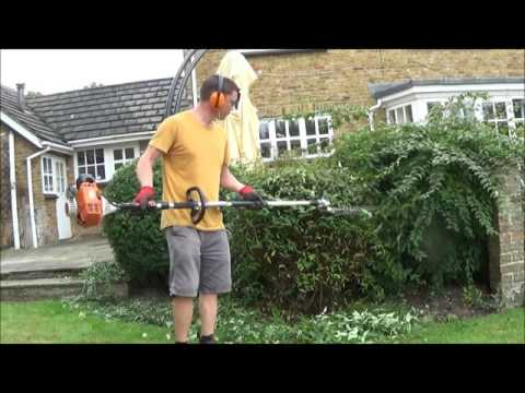Cutting bushes With Stihl hedge cutters