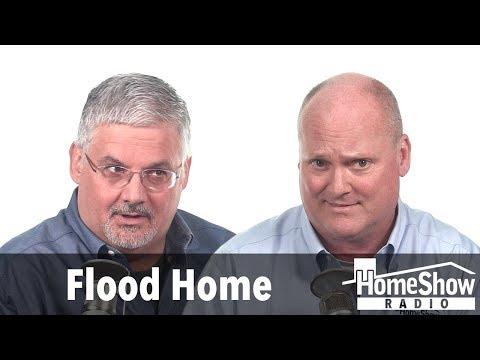 How do I treat the slab of a flood home?