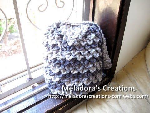 Crocodile Stitch Draw Bag - Crochet Tutorial