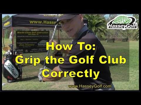 GOLF: How To Grip the Golf Club Correctly -- Very Detailed