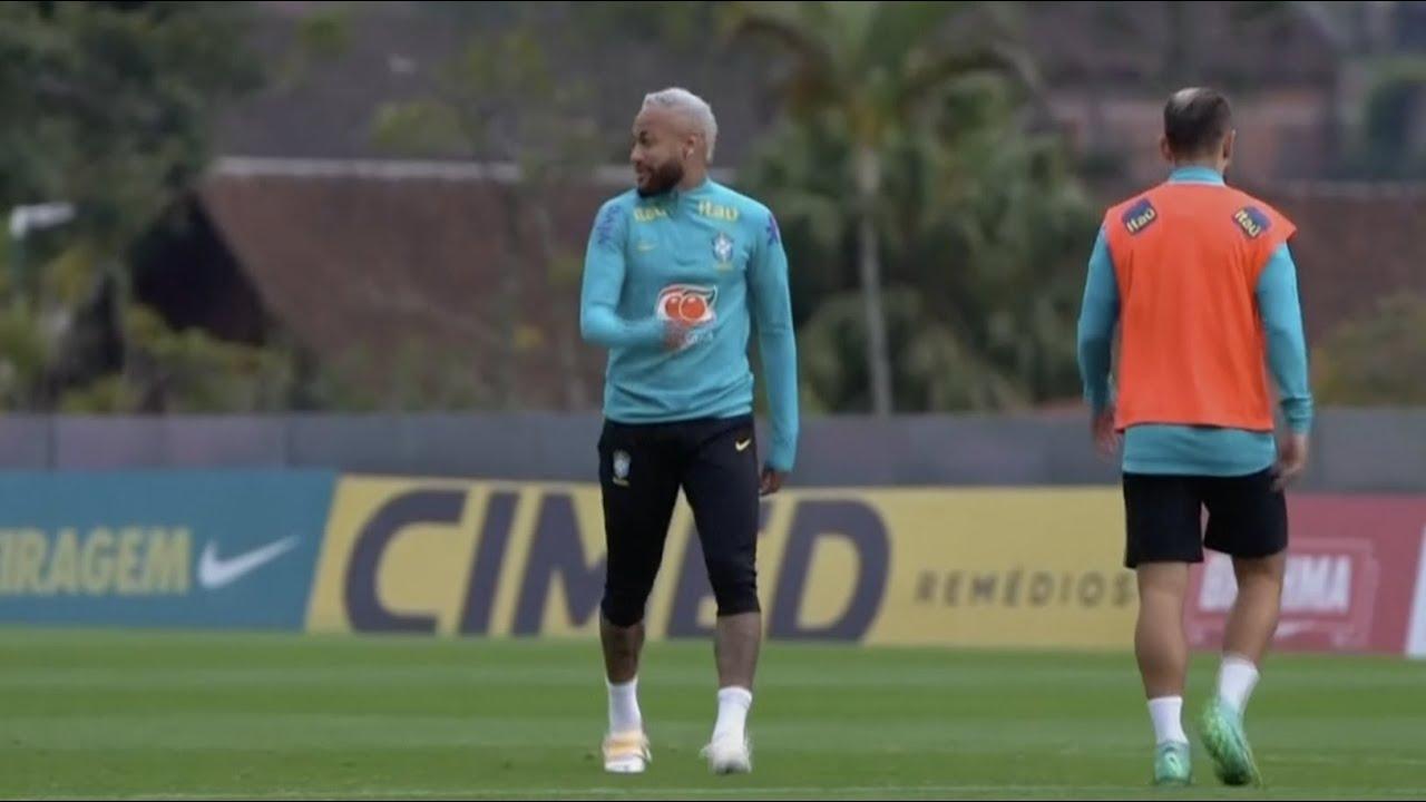 Neymar looks sharp in training as Brazil prepare for Peru   Copa America   Tite