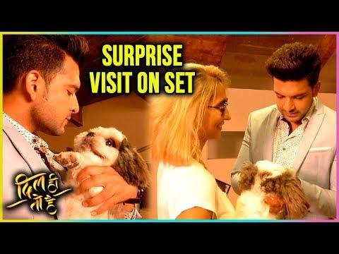 Karan Kundra's Girlfriend Anusha Dandekar Pays SURPRISE VISIT On The Set | Dil Hi Toh Hai