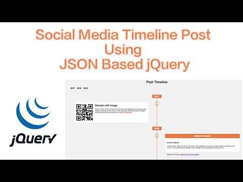 Social Media Timeline Post Using JSON Based jQuery