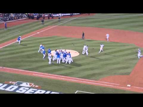 2015 World Series Final Out Royals 7 Mets 2
