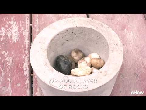 How to Make Cement Plant Pots
