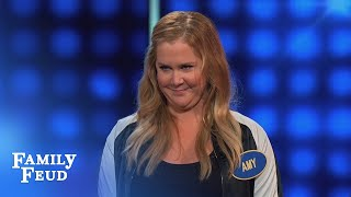 amy schumer vs bald head celebrity family feud
