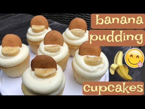 BANANA PUDDING CUPCAKES|| How To Make Banana Pudding Cupcakes!