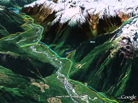 Bute Inlet - Google Earth Flyover