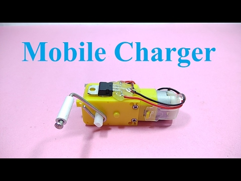 Mobile charger using DC Motor