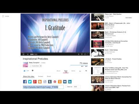 Where to find the URL address of a YouTube Video FC 01